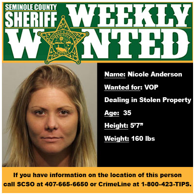 Weekly Wanted Nicole Anderson